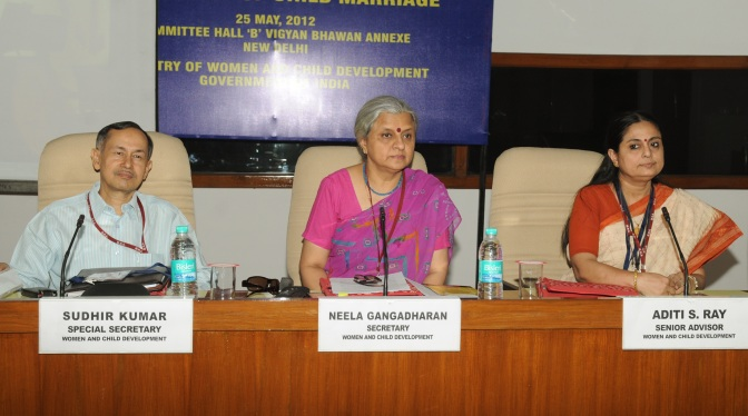 National Consultation with State Governments, NGOs on prevention of Child Marriage, in New Delhi on May 25, 2012.